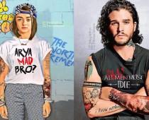 Ako vyzerajú potetované hviezdy seriálu Game Of Thrones?