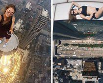 Toto ruské dievča fotí tie najriskantnejšie selfie úplne bez strachu