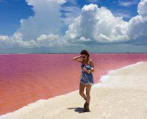 Do ružova prirodzene sfarbená lagúna v Mexiku je podľa Instagramu celosvetovo najvhodnejším miesto na výlet
