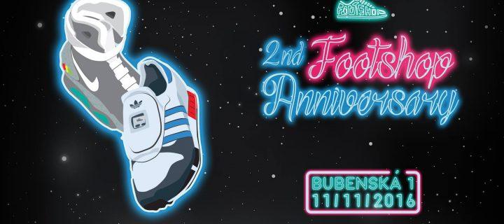 Footshop oslavuje narodeniny, bude afterparty!