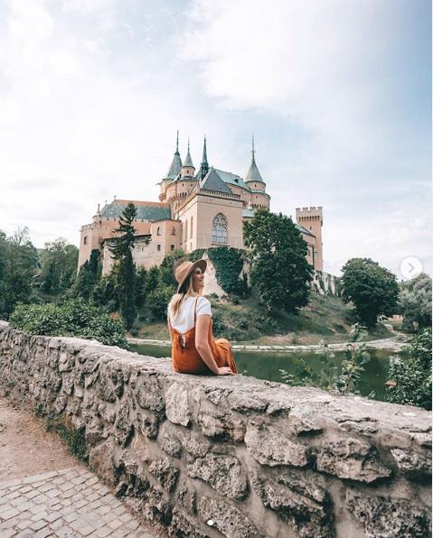 Youtuberka Jess na návšteve Bojnického zámku.