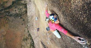 Američanka Sasha DiGiulian počas zdolávania skalného masívu Mora Mora na Madagaskare