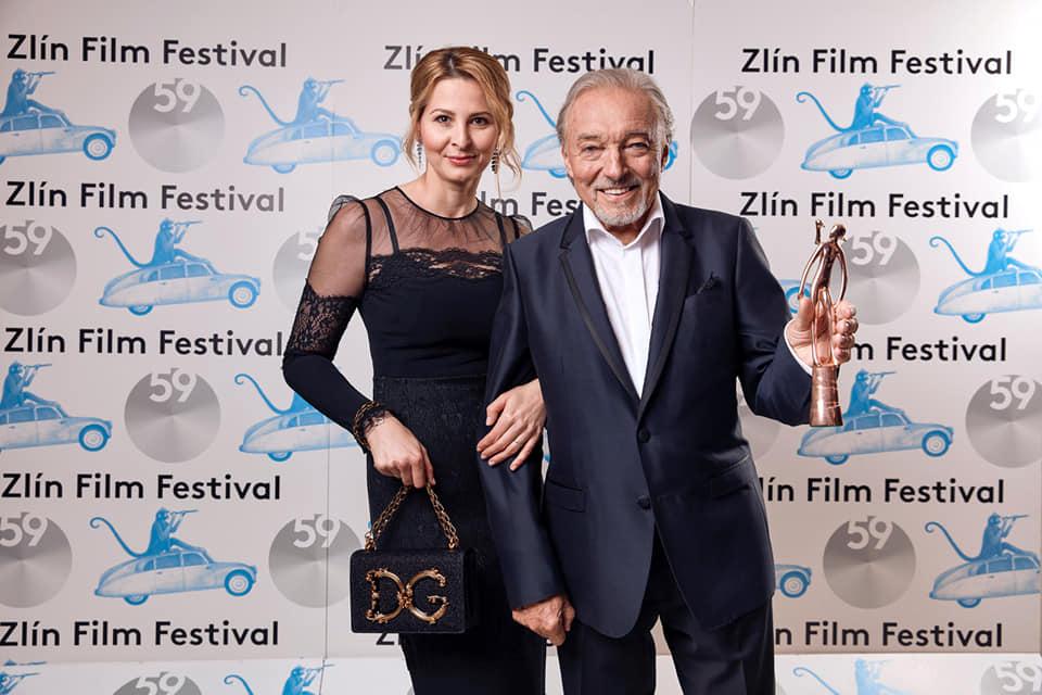 Karel Gott s manžlekou Ivankou na filmovom festivale.
