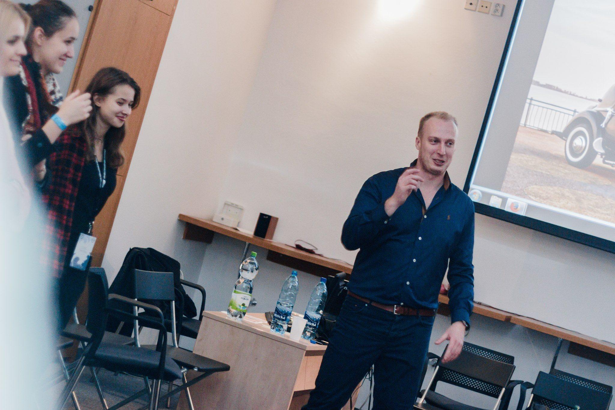 Michal na prednáške