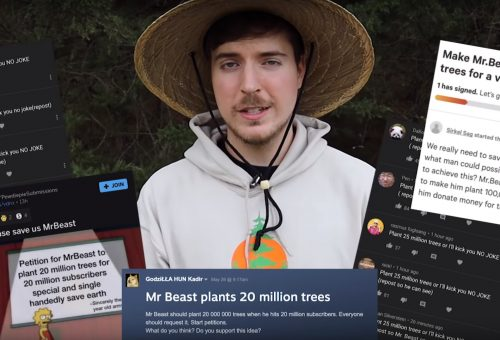 Youtuber plánuje vysadiť 20 miliónov stromov: Musk, Dorsey, Walker či Lütke prispeli!