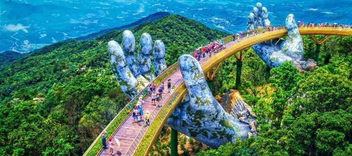 Vietnamský Golden Bridge je svetovou raritou
